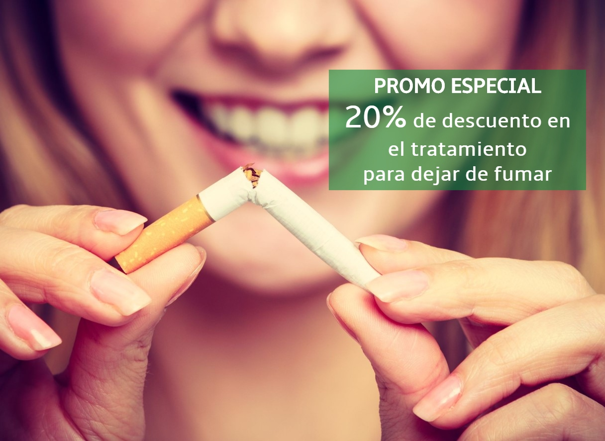 oferta del 20% de desucento en tratamientos para dejar de fumar